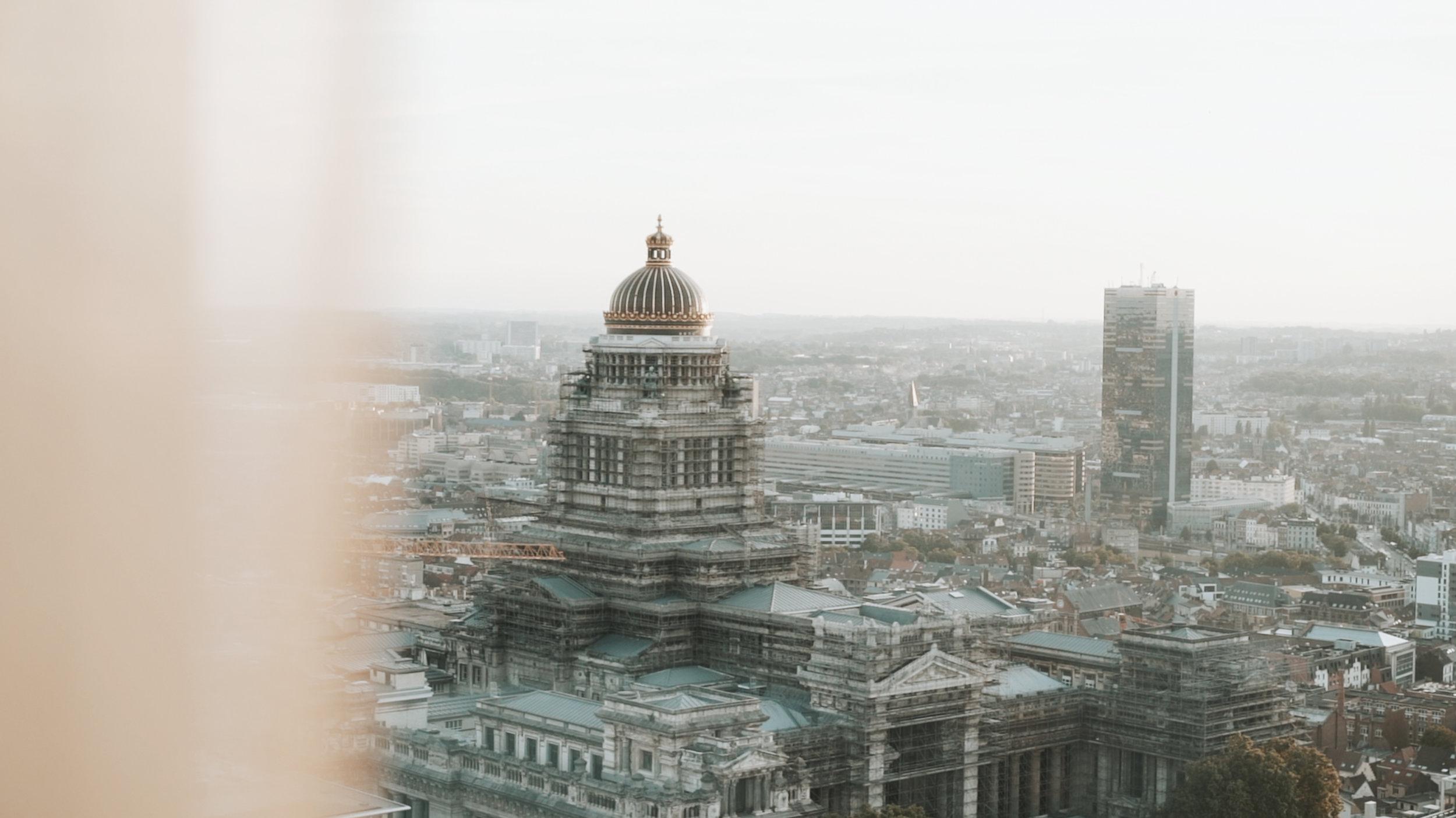 Vidéo et photo de paysage Bruxelles palais de justice événementielle