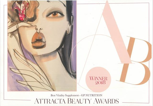 A huge congratulations for @gp_nutrition for winning Best Vitality Supplement at the @attractabeauty awards this morning. We are very proud! ✨