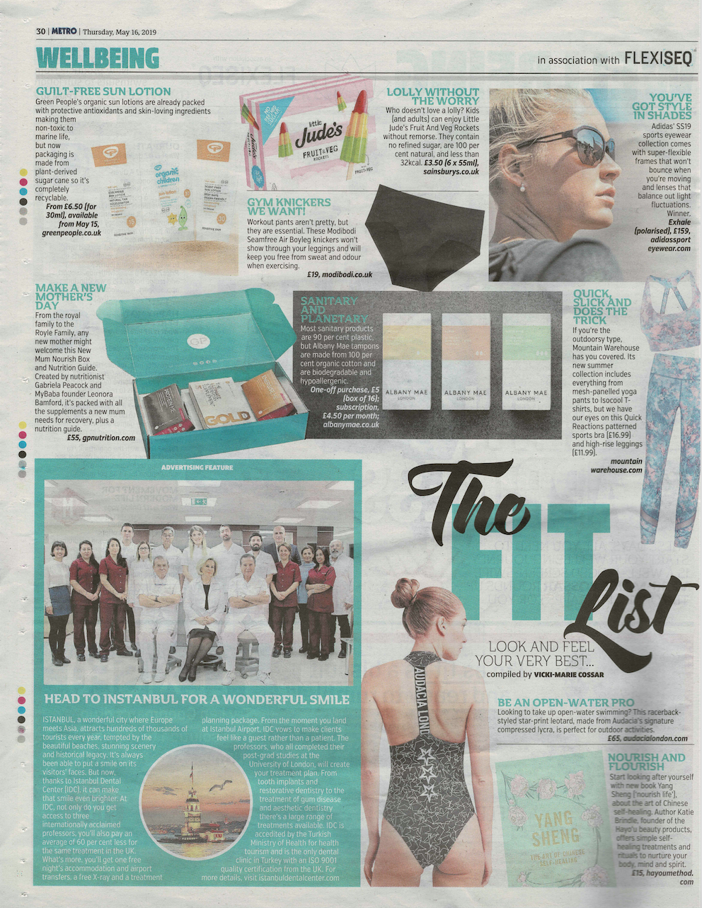 Metro, 16th May (New Mum Nourish Box & Nutrition Guide) 2.png