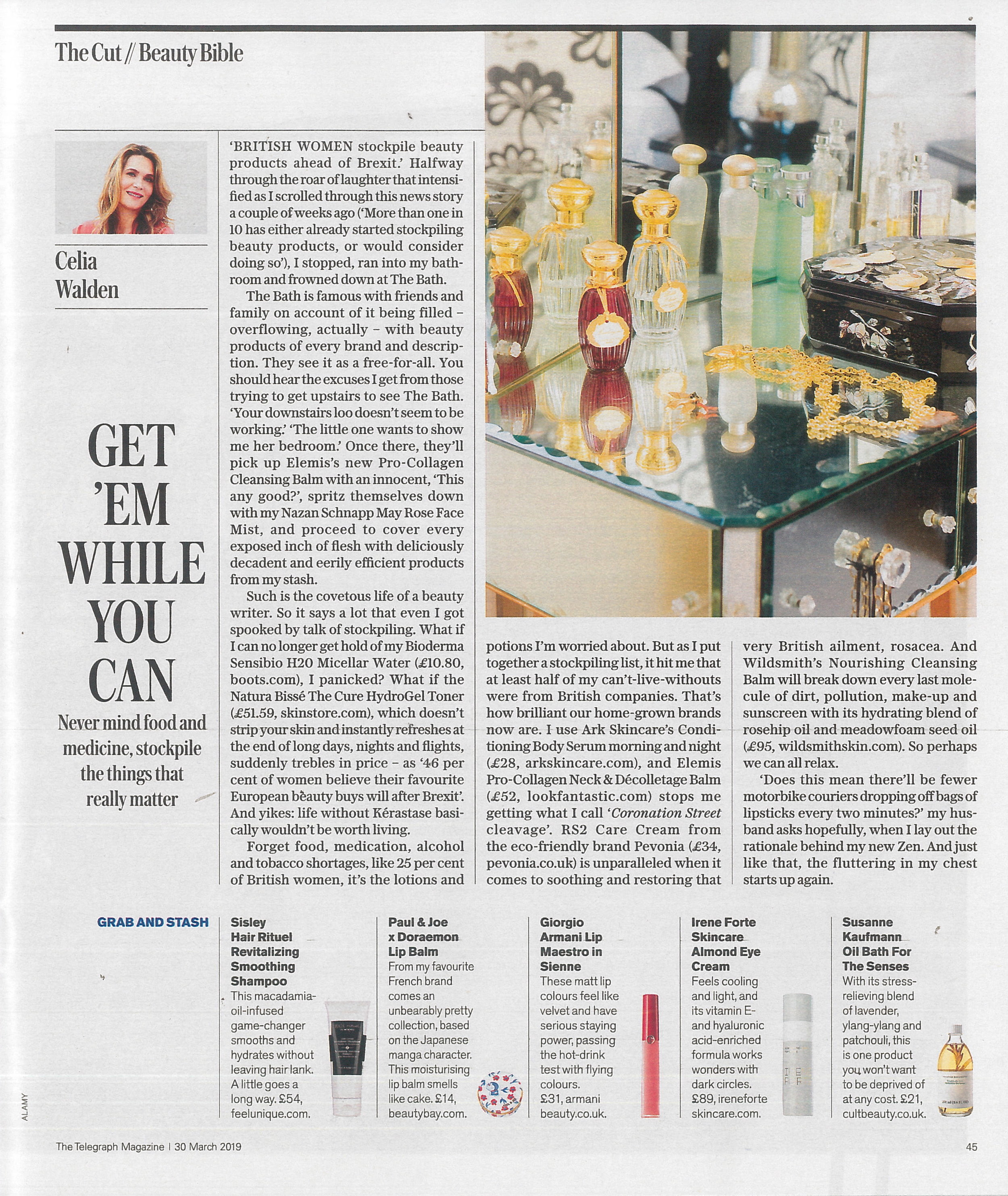 The Telegraph Magazine, 30th March (Almond Eye Cream), 1.jpg