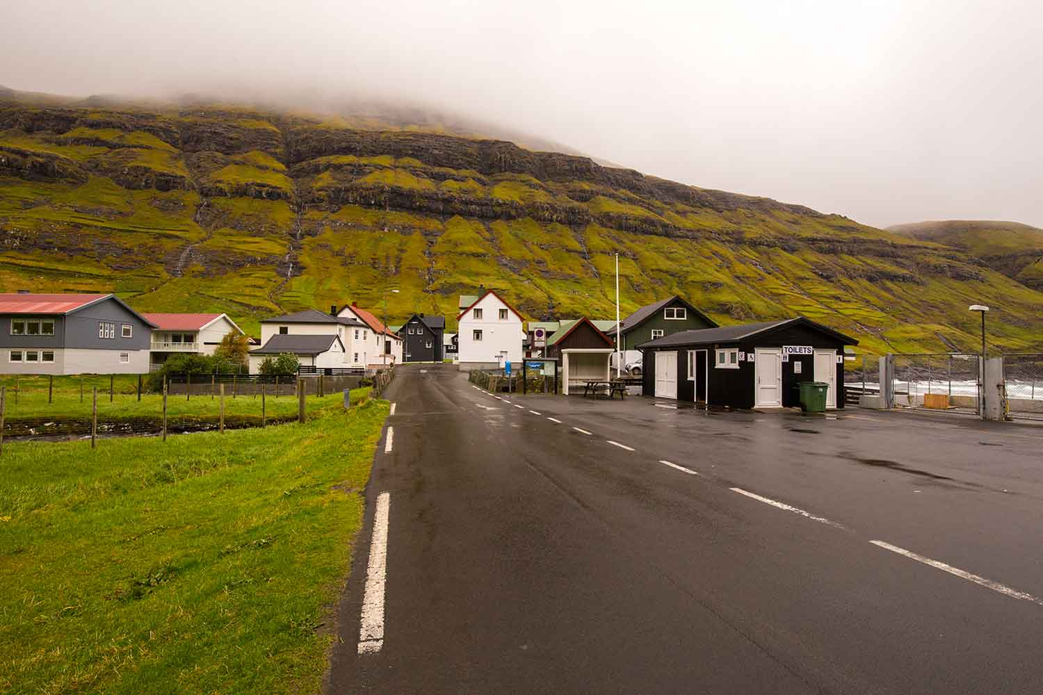 Tjørnuvík has wonderful heated restrooms as you enter town.