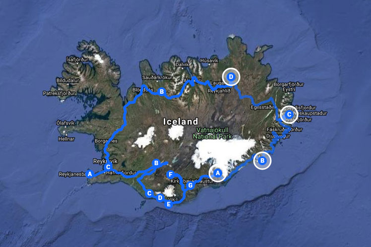The plan - to drive around Iceland's Ring Road over eight days.