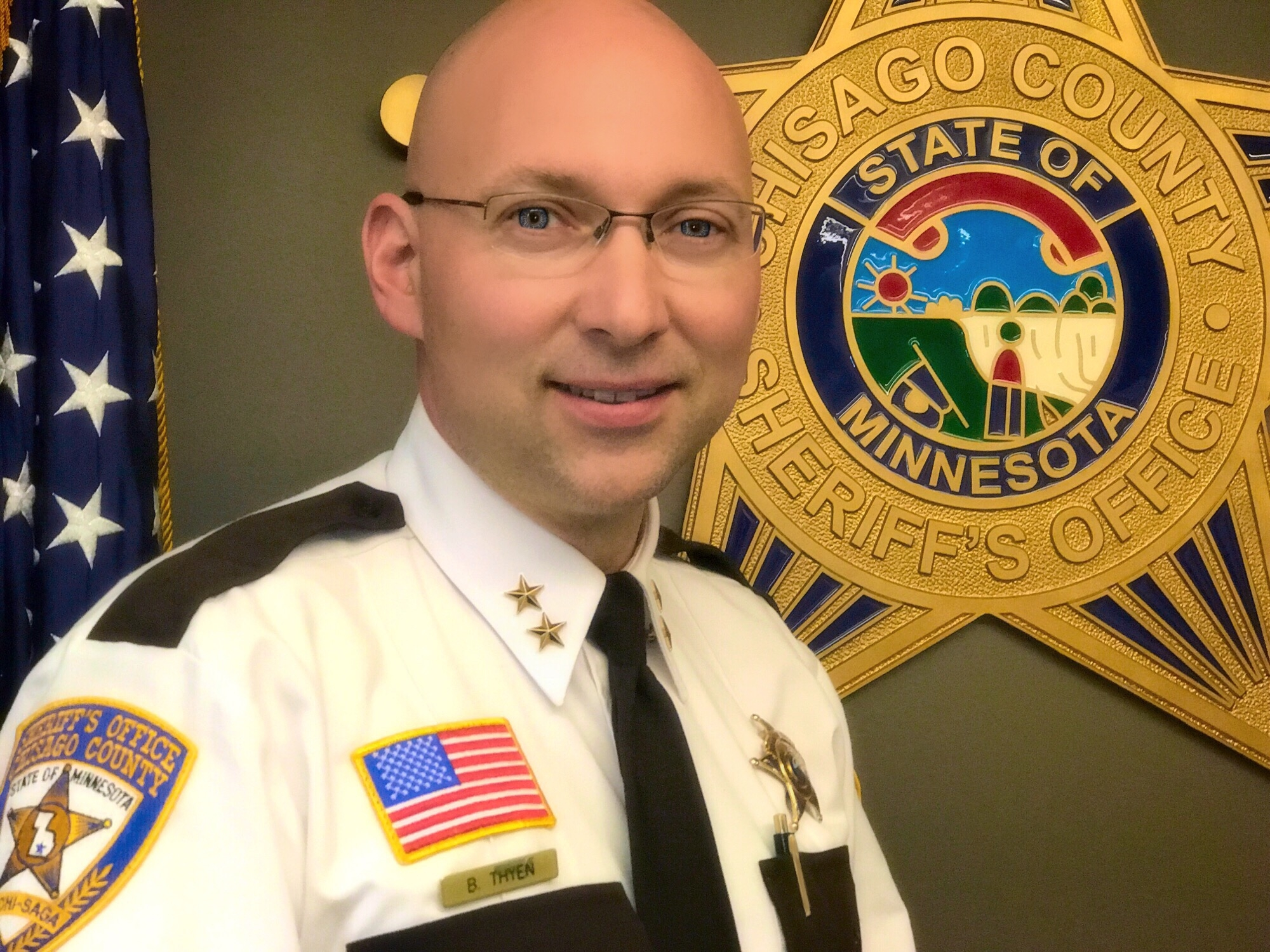 Sheriff Brandon Thyen appointed by county leaders on May 5, 2018.