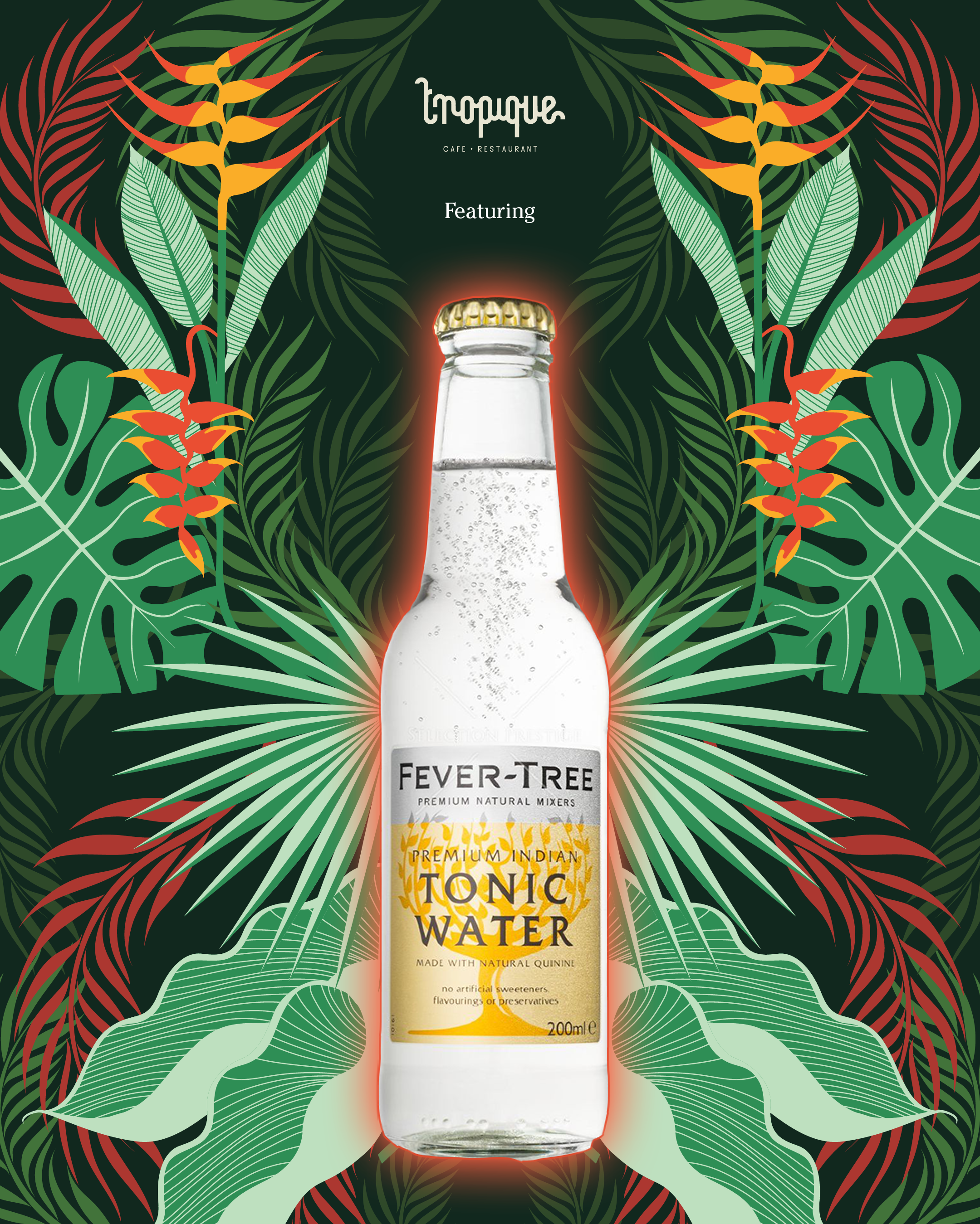 Safari-social-tropique-cafe-restaurant-fever-tree-tonic-water