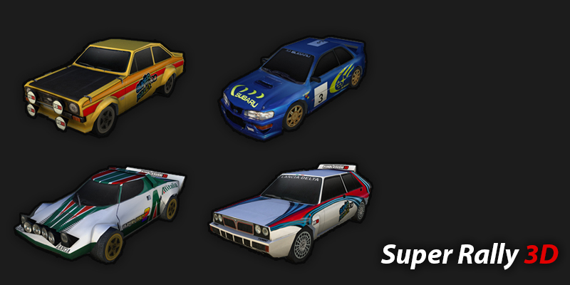Super Rally 3D - I was hired to create a few vehicles for a flash game