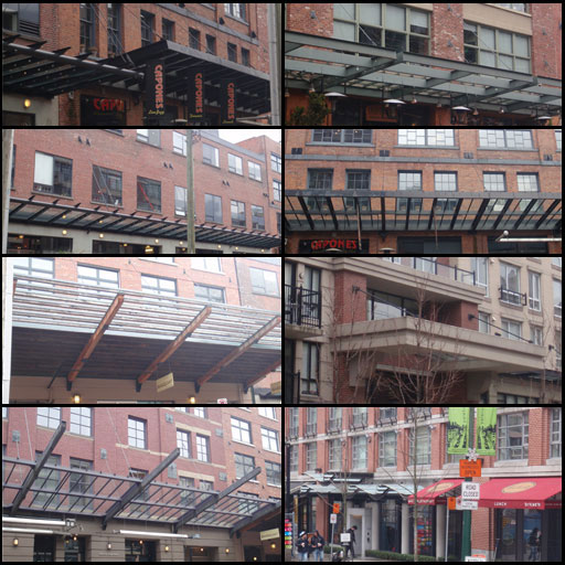 - The variety of awnings that you have can be many. In level design, you want to have as much control as you can with the assets, achieving the largest amount of variation with the least amount of assets.Normally you want everything to fit with one another, so having a standard where each wired support of each awning is a specific distance away from the next wire support is a good practice. This also applies for the windows and supports, so when you have two buildings side by side, you can easily swap the awnings between the two buildings with ease. This will guarantee that any variety of awnings can fit any variety of building.