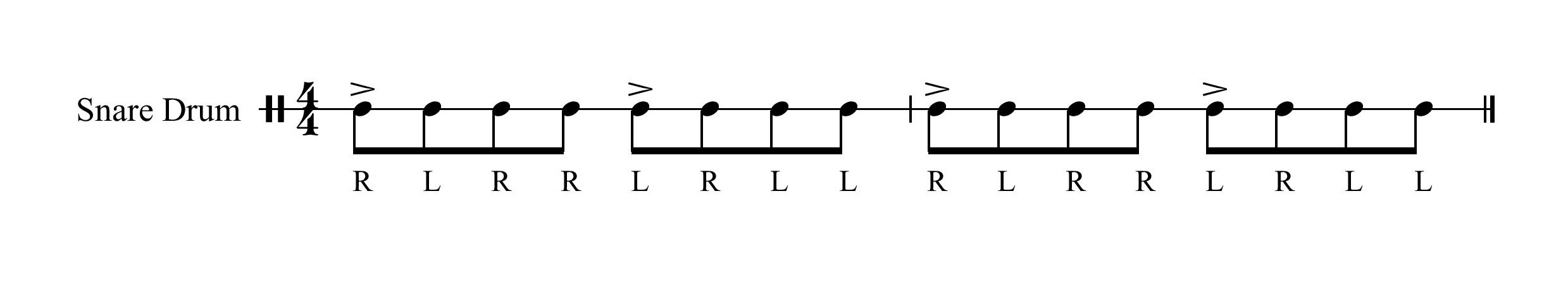 Paradiddle Accent 1