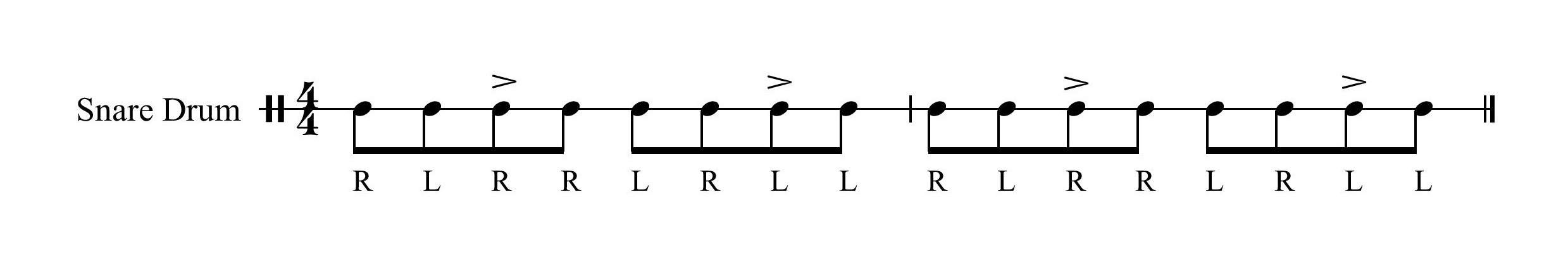 Paradiddle Accent 3