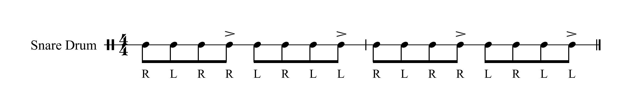 Paradiddle Accent 4