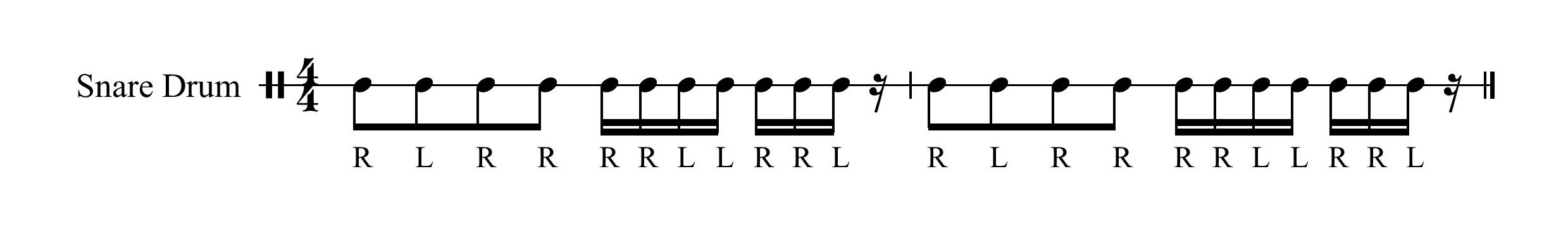 7 Stroke Drum Roll with Intro Paradiddle