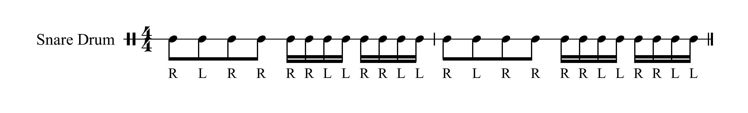 9 Stroke Drum Roll With Intro Paradiddle