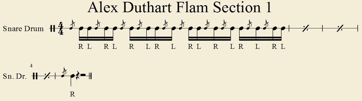 Alex Duthart Flam Section 1