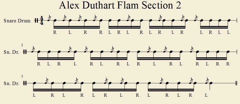 Alex Duthart Flam Section 2