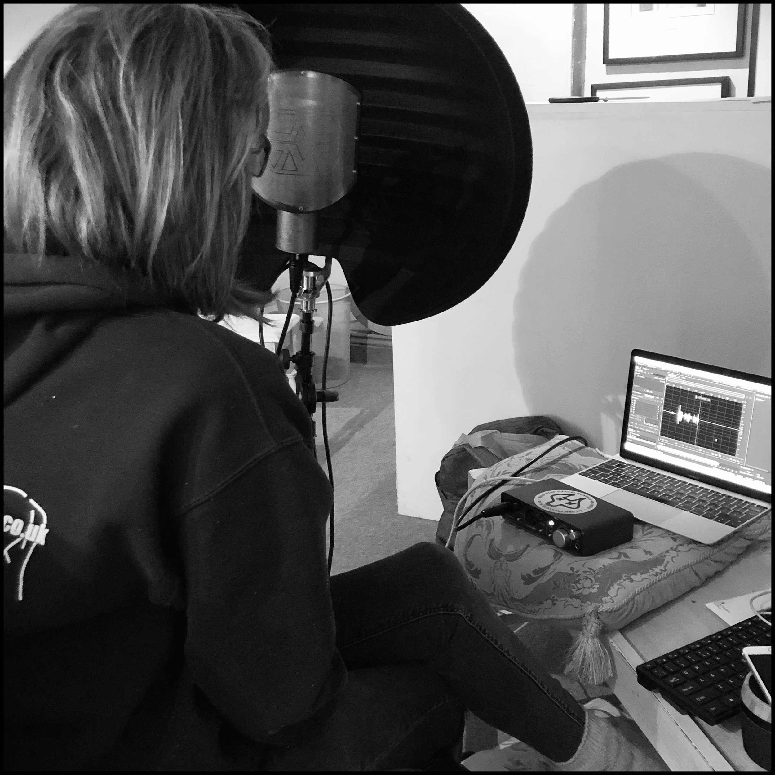 Learning from my youngest how to set up and record a podcast…