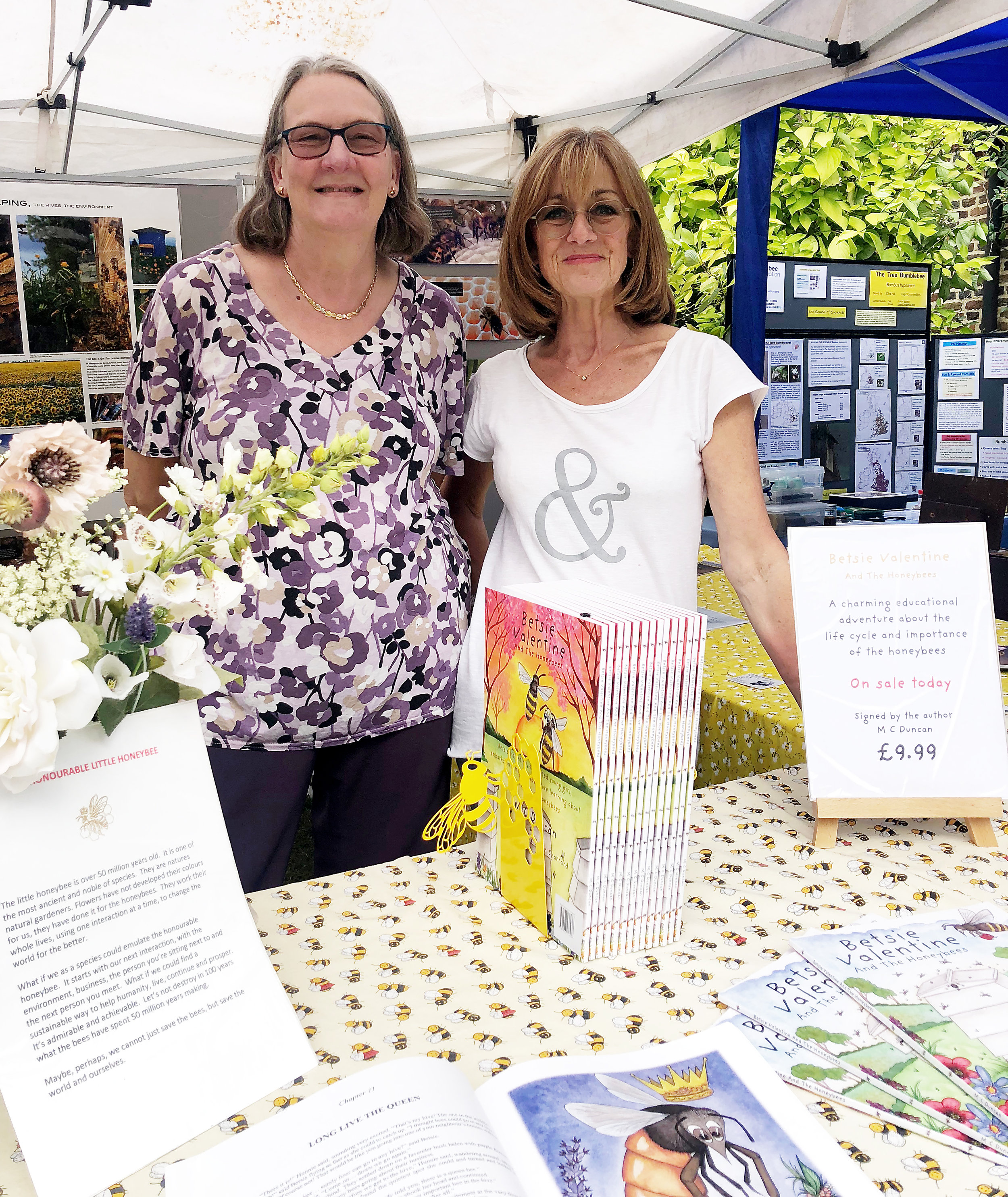 Fiona Matheson - our love Chairperson at The Chalfonts Beekeepers Society Stand.
