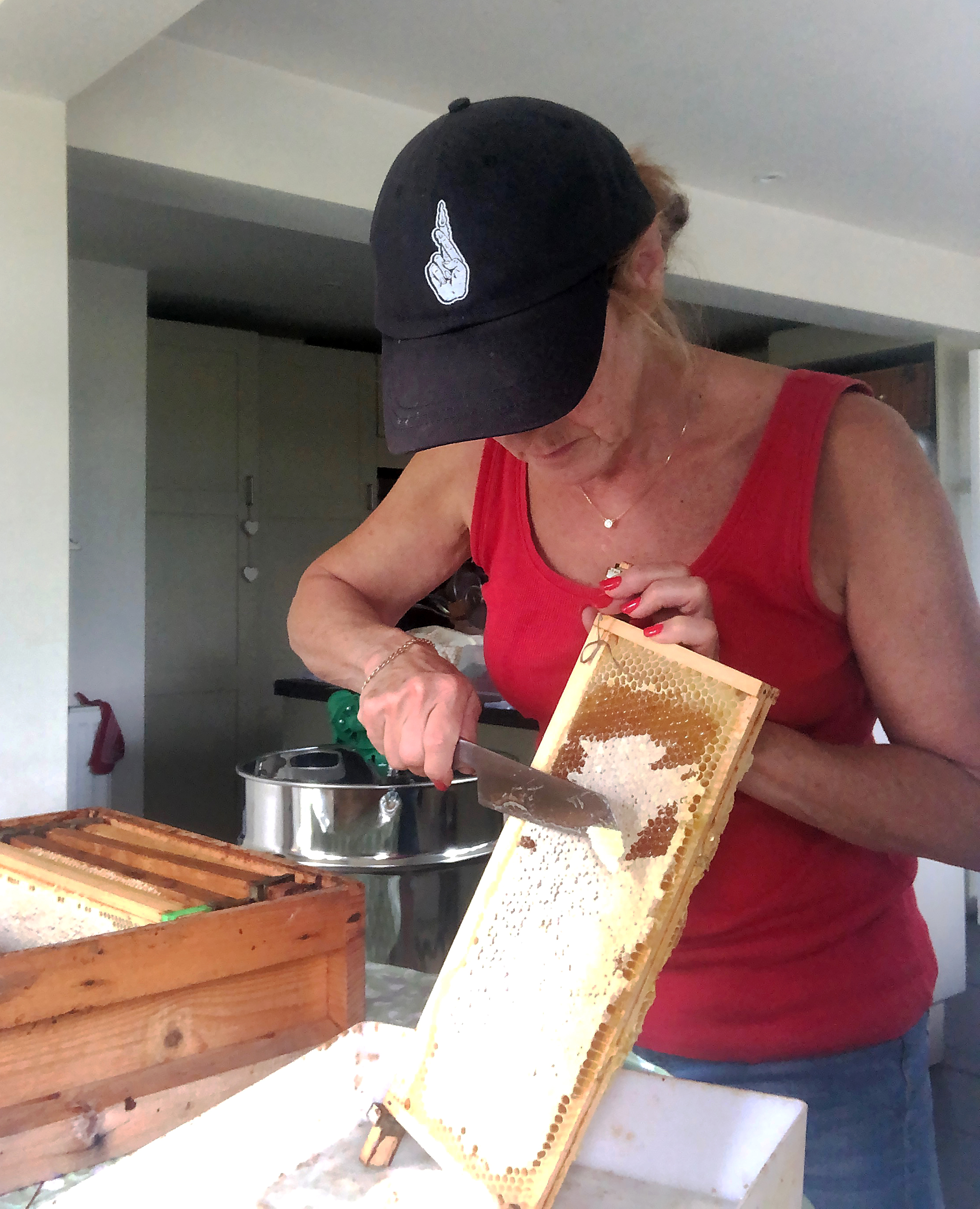 Taking off the wax cappings