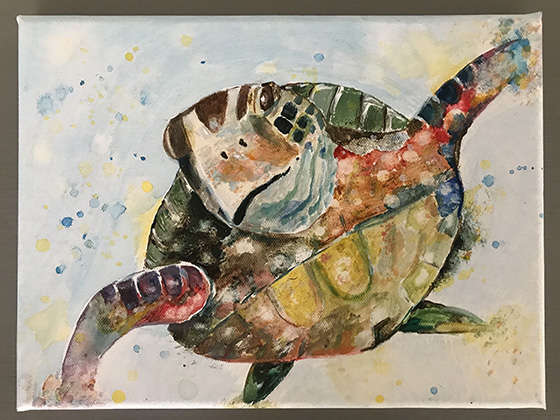 Resplendent Turtle © 2018 Lisa Grigoriou | All Rights Reserved