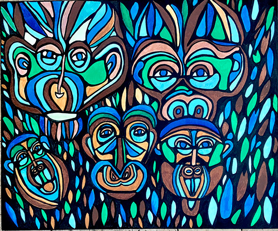 The Simians © 2018 Jill D Lefkowitz | All Rights Reserved