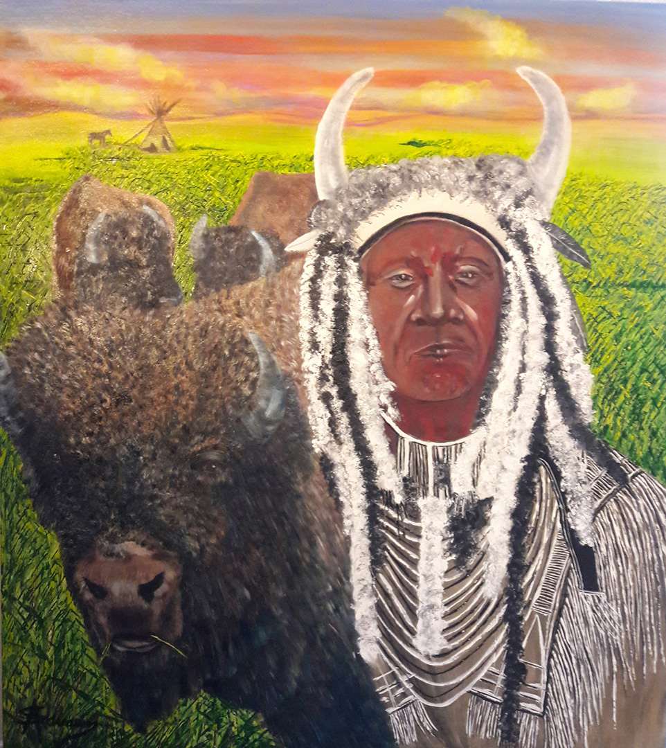 Cherokee Indian and Bison's © 2019 Susan Andreasen | All Rights Reserved