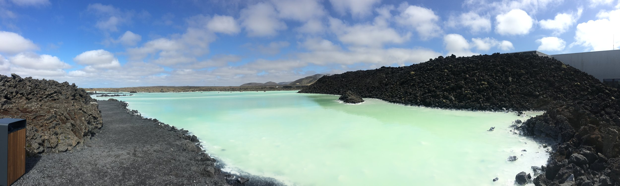 A panorama of the area right outside the entrance to The Blue Lagoon. I took most of these photos out here, because I was afraid to bring my phone out to the lagoon and drop it in the water.