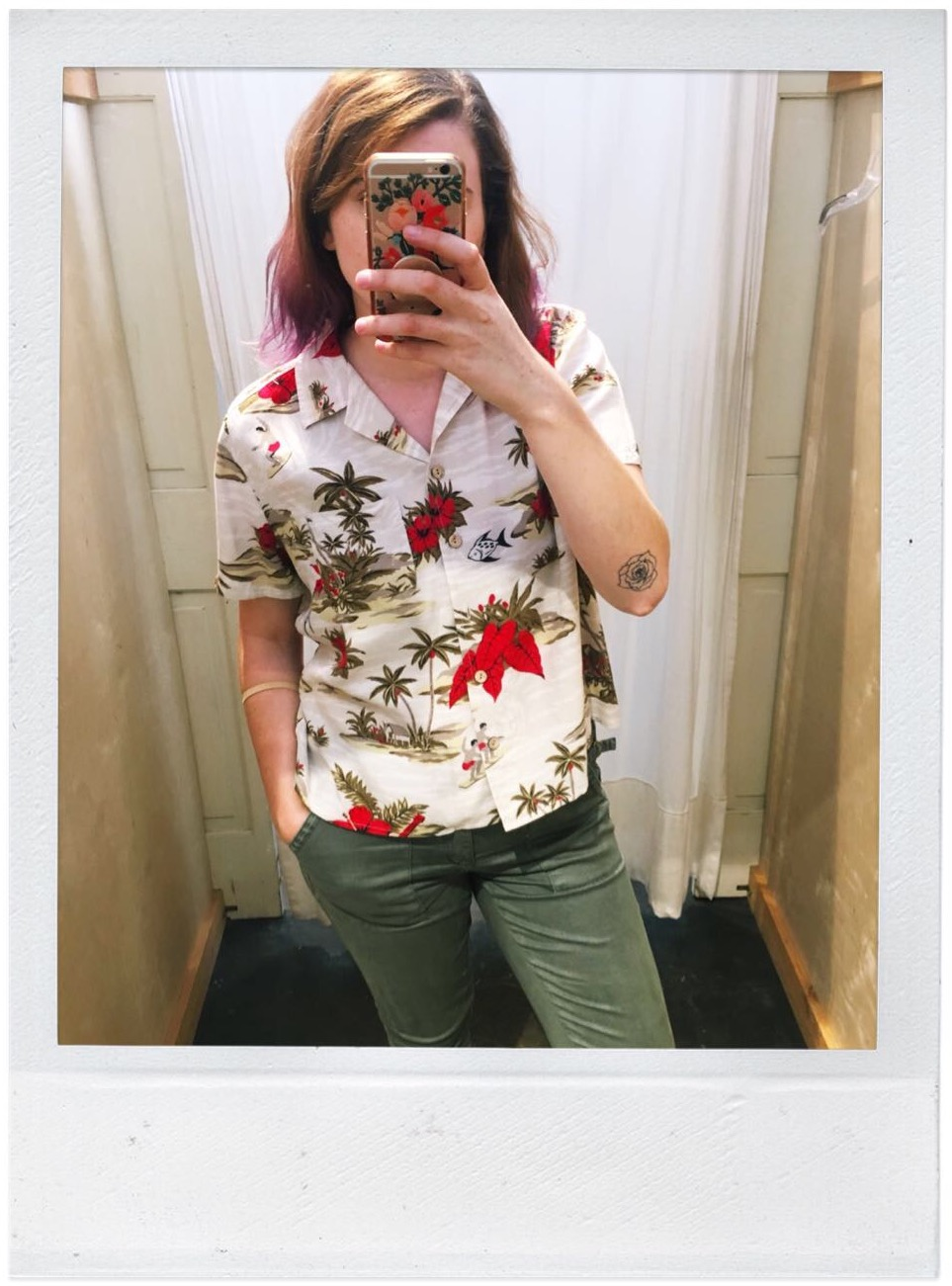 A favorite shirt from my neighborhood re-sell shop - it was $9!