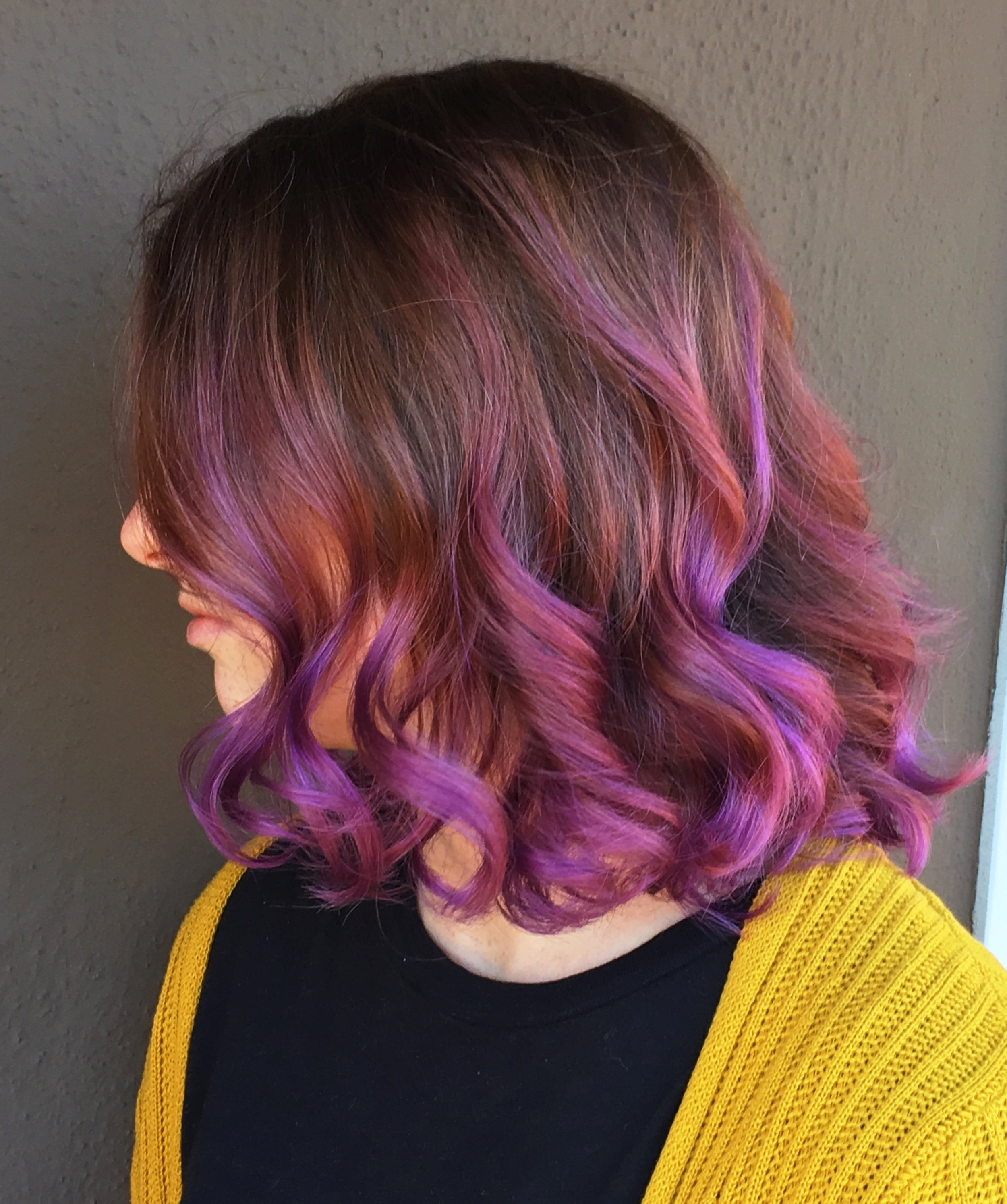 I had purple hair for half of 2018! It was awesome, but very high maintenance.