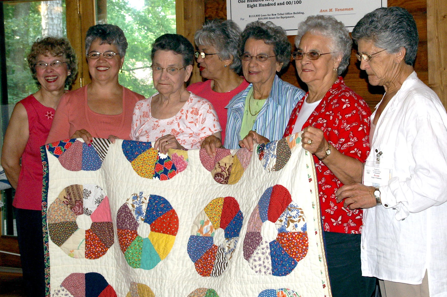 Sappony Quilters at Camp 2006