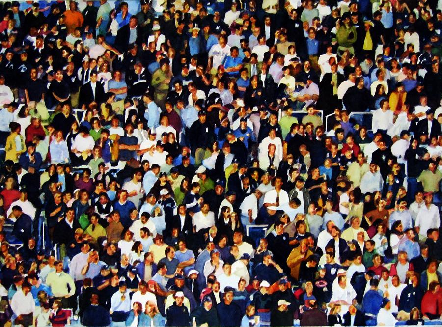"Crowd #4 20"" X 27""  watercolor"