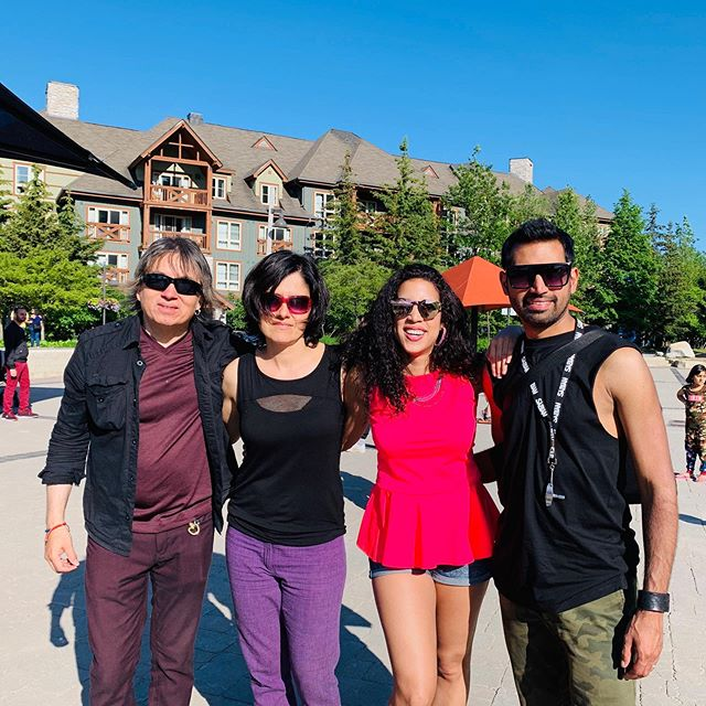 We're enjoying a wonderful sunny day up in @bluemtnresort at the Salsa At Blue!🌞. Our next performance will be in Toronto, this Tuesday, June 25th! As part of #playtheparks at Trinity Square, from 12:00 p.m. to 1:30 p.m.💃🏻. WOOHOO!!. . . . . #santerias #santeriasband #latinfusion #latinfunk #rumbafunk #latinosencanada #latinosentoronto #latinmusic #salsaatblue #salsaonstclair #singer #cantante #guitar #bassguitar #drums #bajo #canada #bluemountain #collingwood