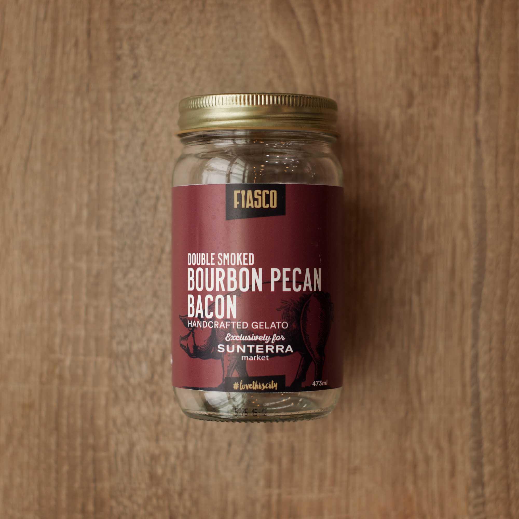 SUNTERRAMARKET - BOURBONPECAN BACON FUMÉ DOUBLEMois de porc