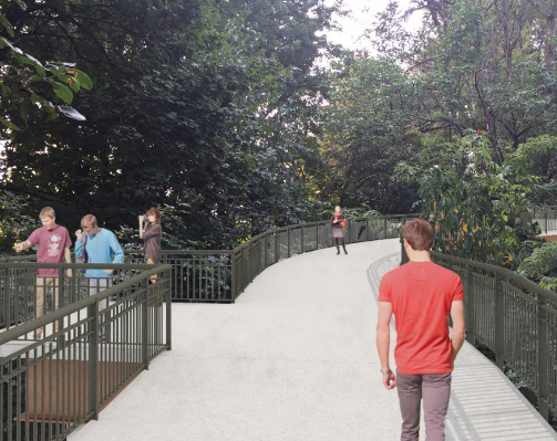 The walkway will connect downtown Milwaukie to McLoughlin.  Source.