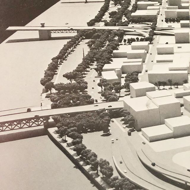 Model for Portland's Waterfront Park (1974). #adaptivereuse #portland #pdxarchitecture #parks #willametteriver #waterfront
