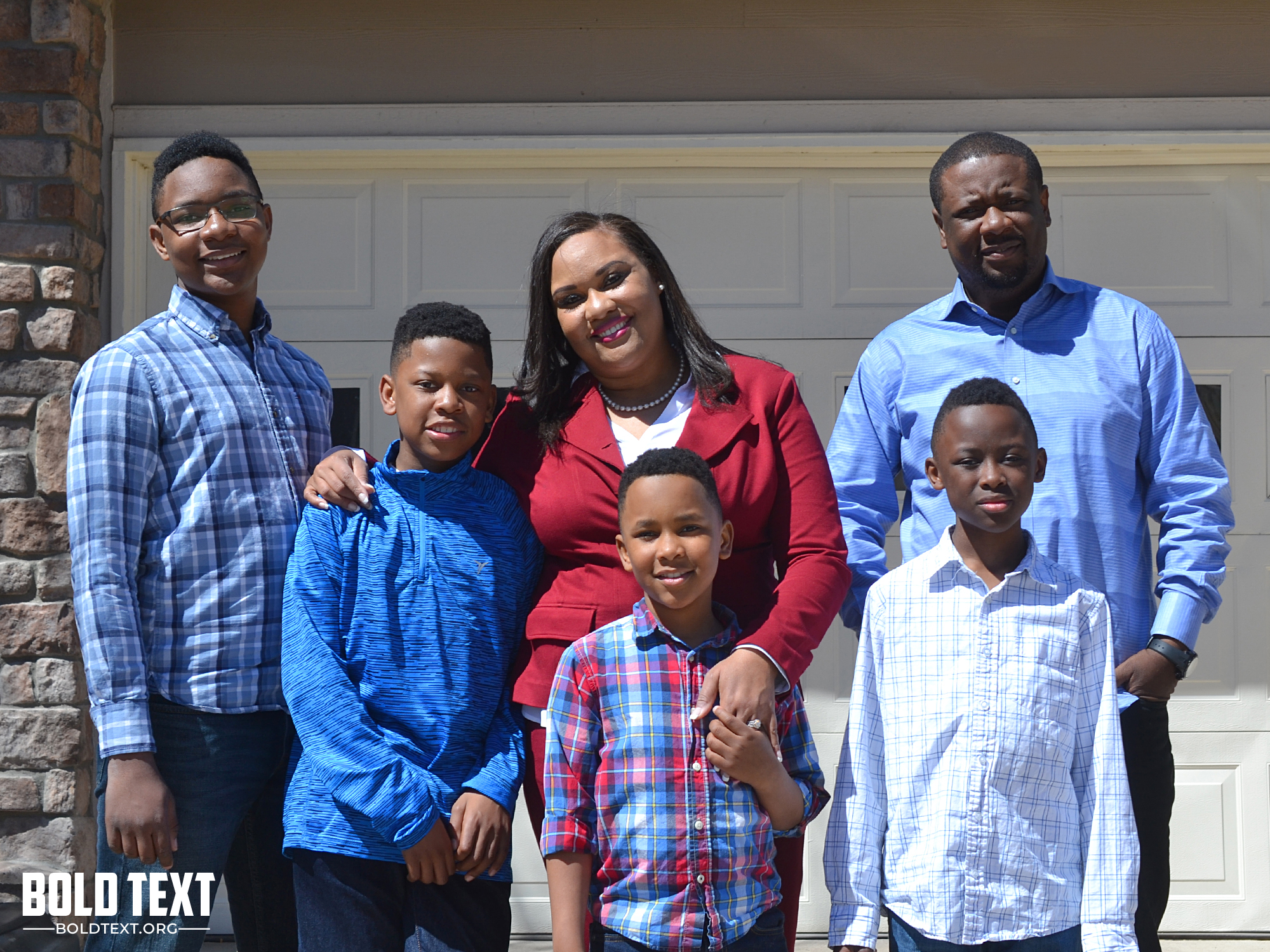 Danielle Kombo, candidate, Colorado House District 45 and family.