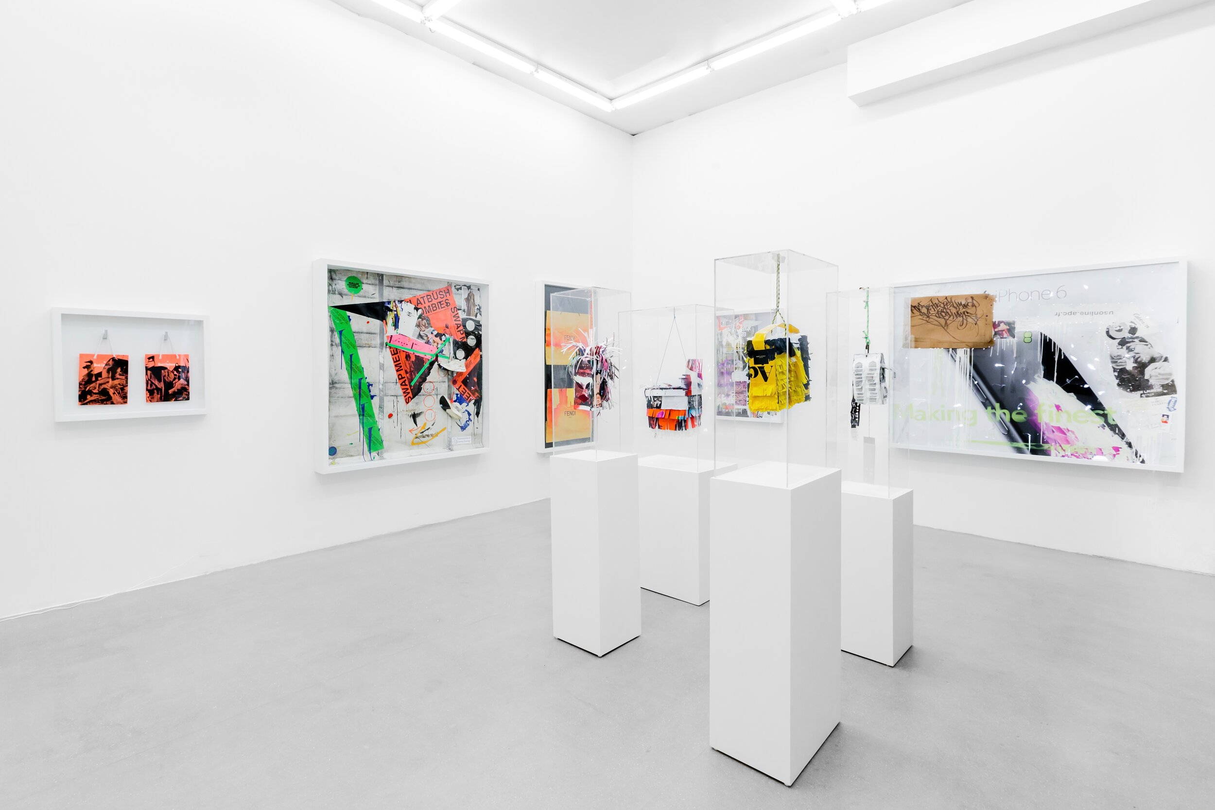 """Installation View,  Detourned , exhibition by Melvin """"Grave"""" Guzman, ABXY Gallery, 2019 