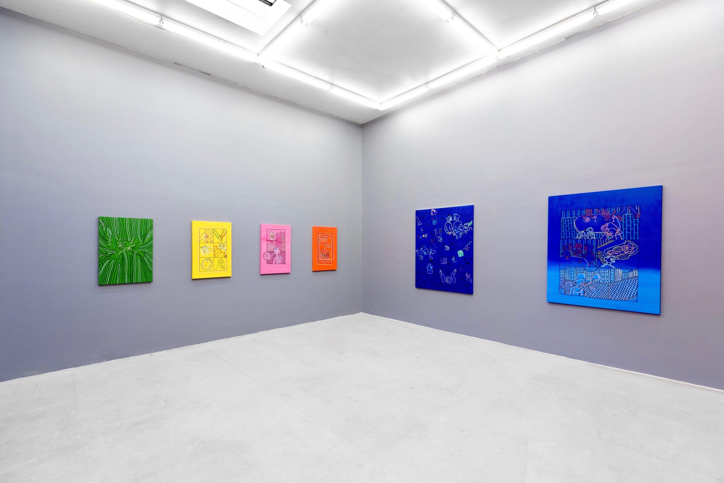 Installation view,  Conversation Derelict , Solo Exhibition by Corey Wash (image courtesy of Erik Bardin photography)