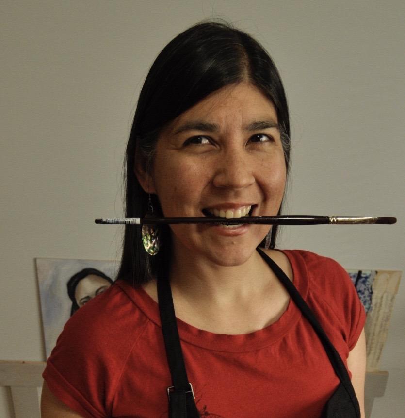 Melanie Rivers Indigenous Mixed Media Artist and Online Art Teacher