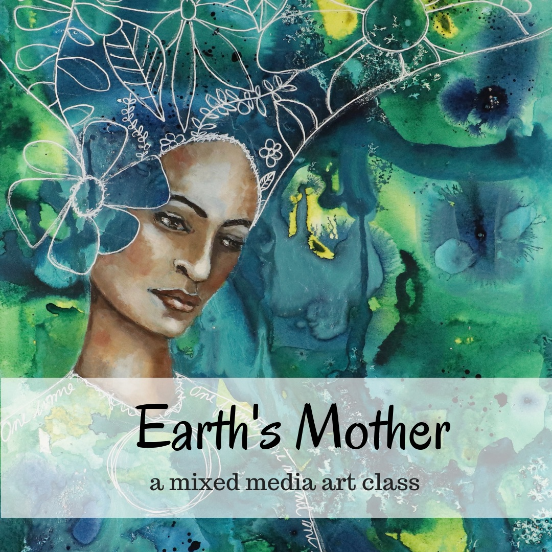 Earth Mother online art class by Melanie Rivers