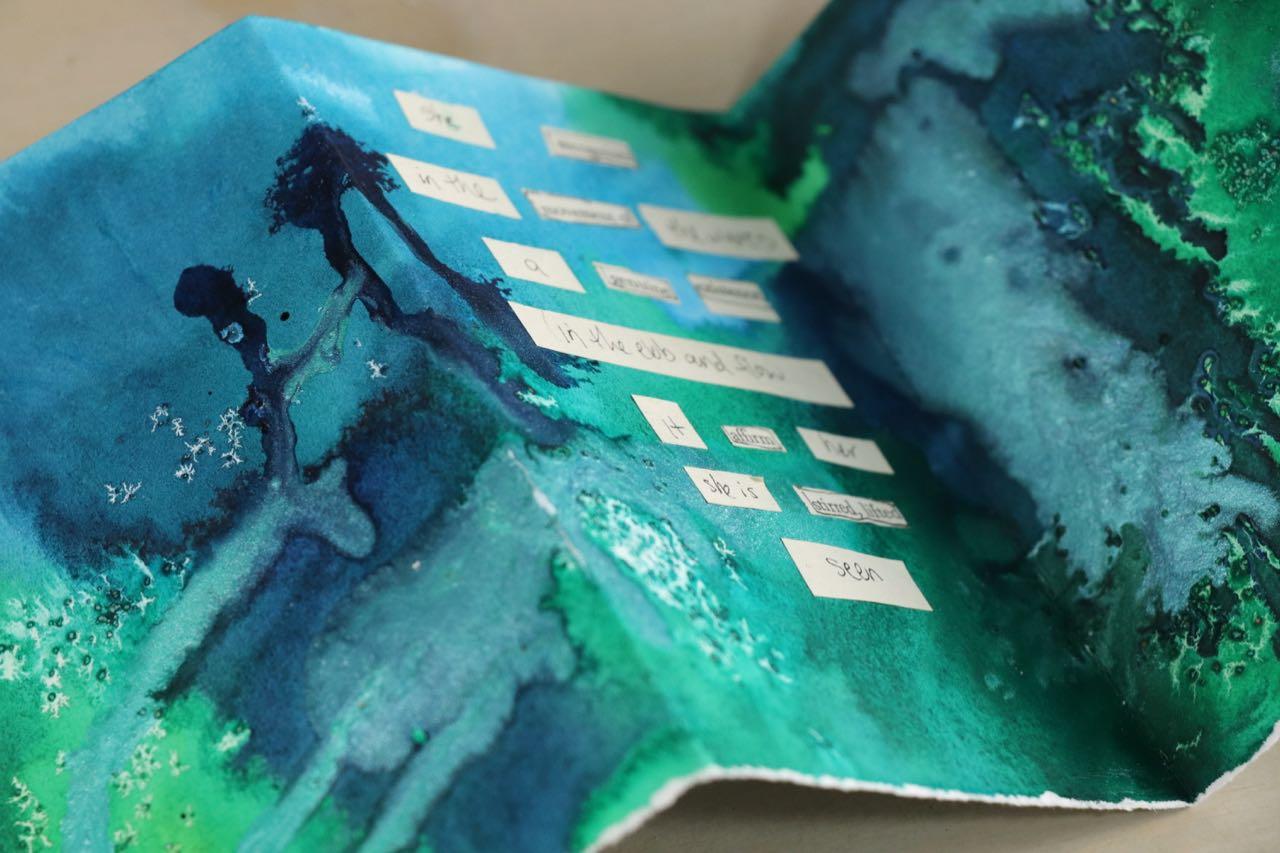 Oceans Poem: Mini Art Journal Workshop by Melanie Rivers