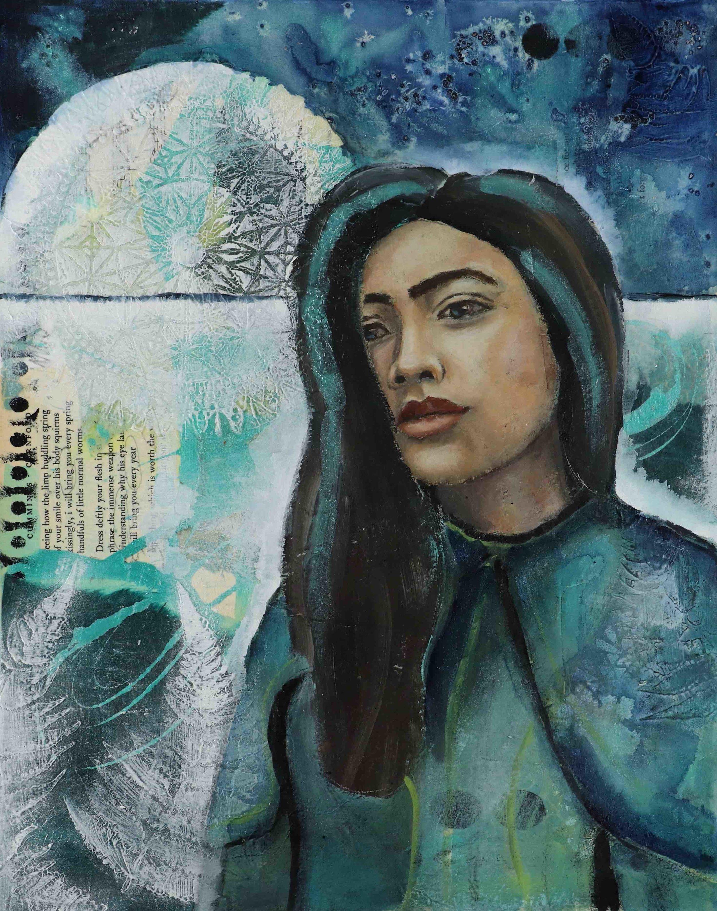 Her Big Adventure, art lesson by Melanie Rivers, 21 Secrets Face Time, an online art course