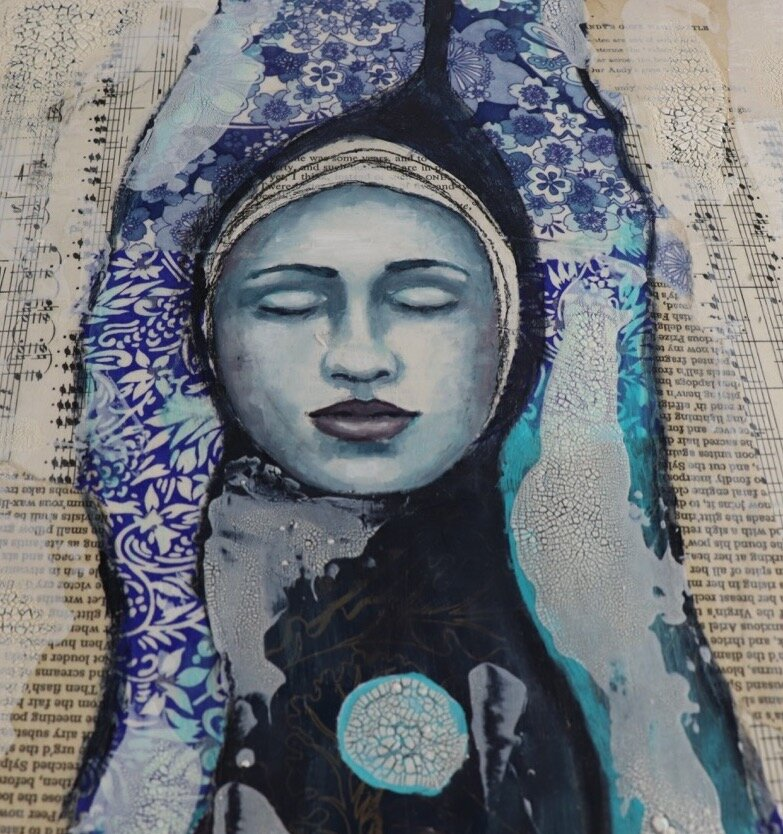 Free Mixed Media Art Lesson - Create your own Tree Woman