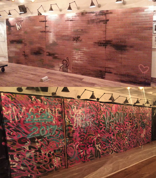 "SOHO House Custom ""graffiti "" walls"