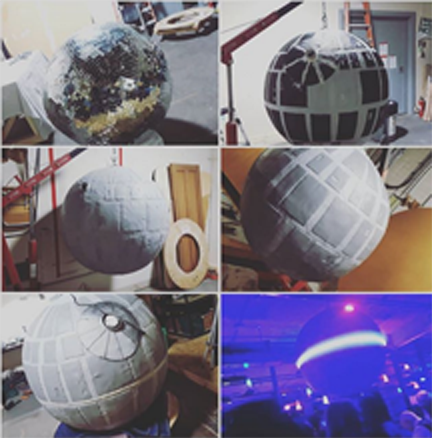 From disco ball to Deathstar…SOHO NYE 2019