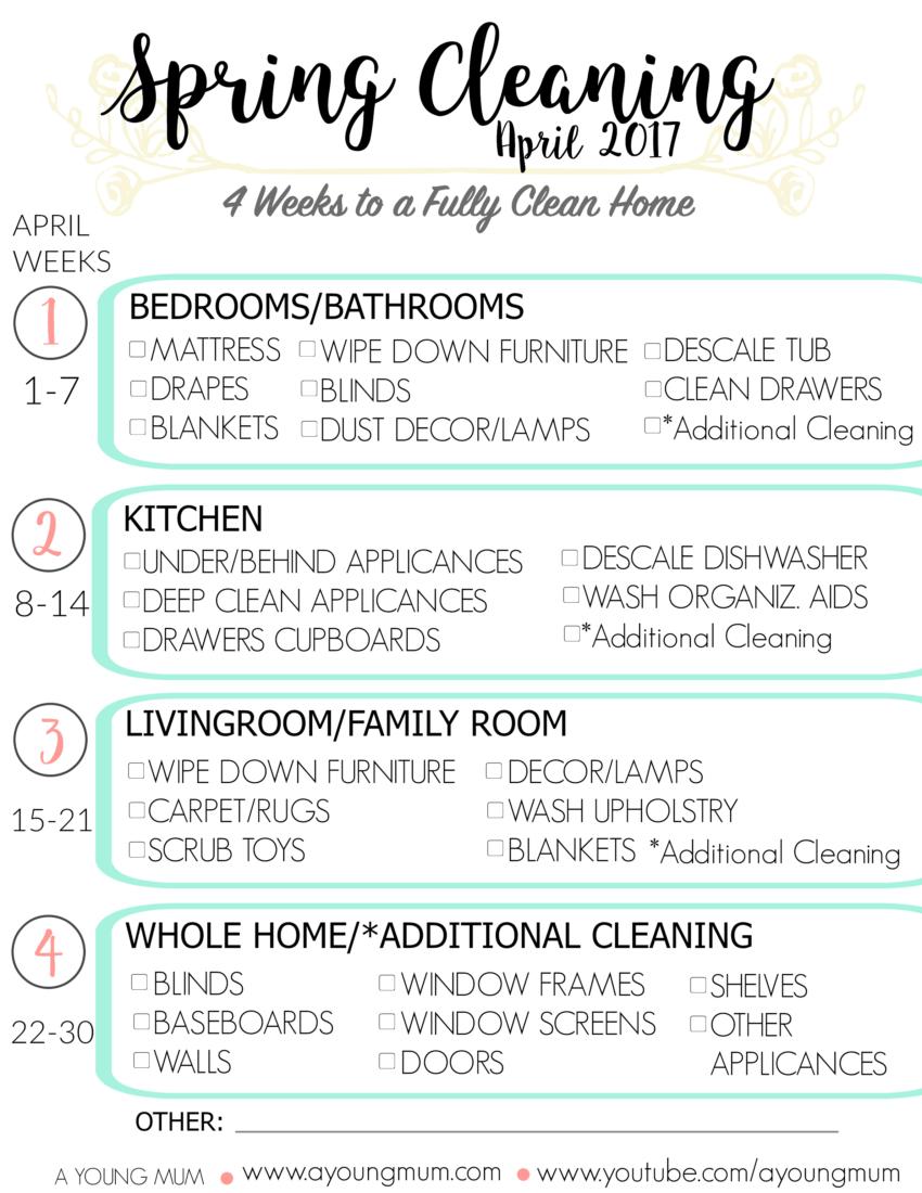 konmari spring cleaning list 2017