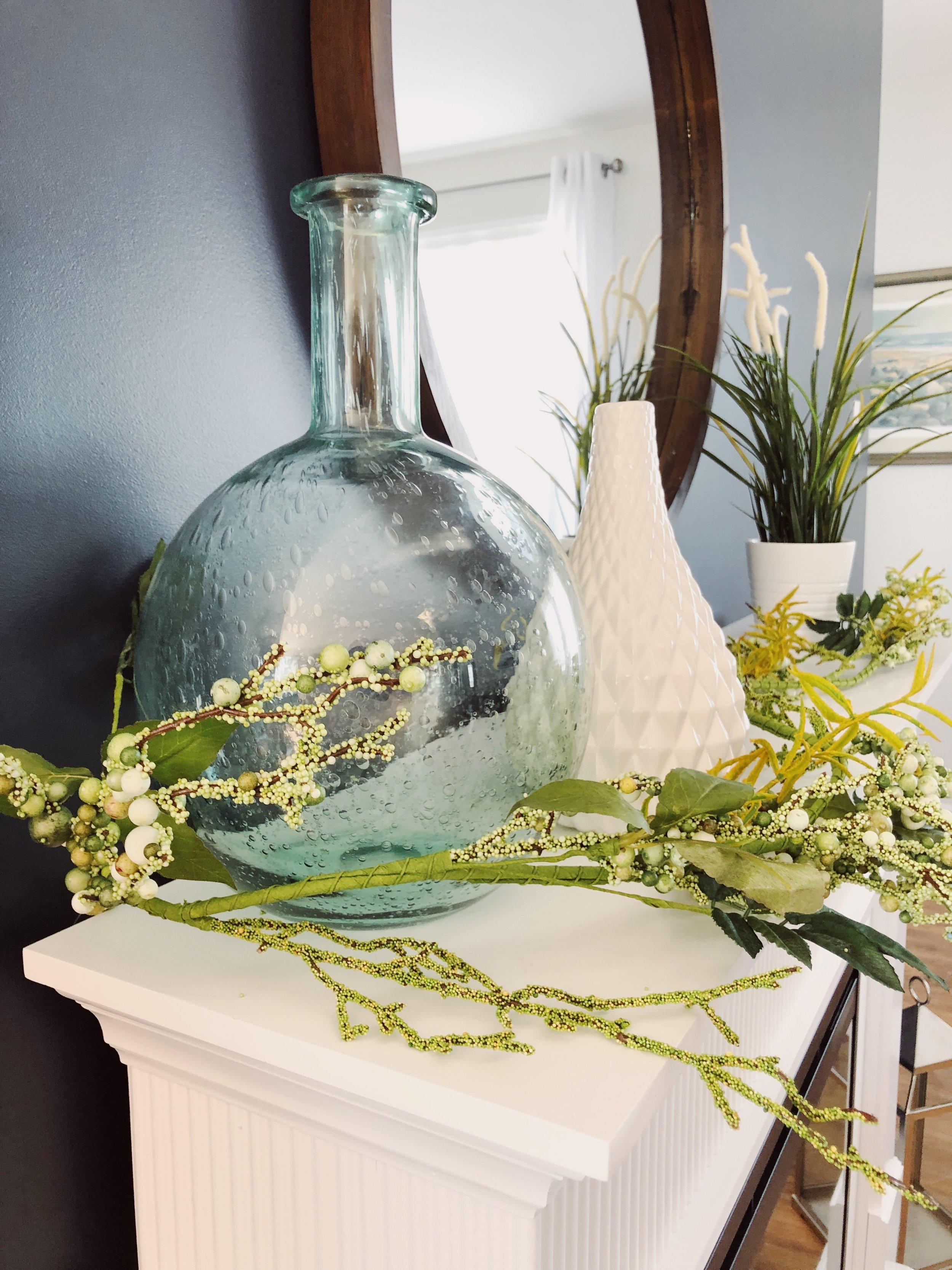 Spring Garland & Vases
