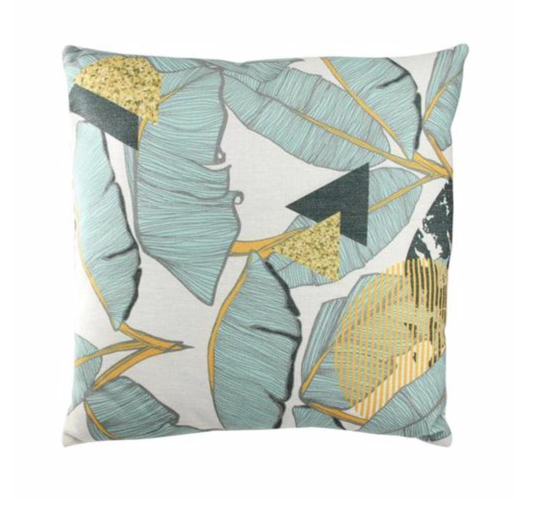 Tropical Banana Leaf Pillow
