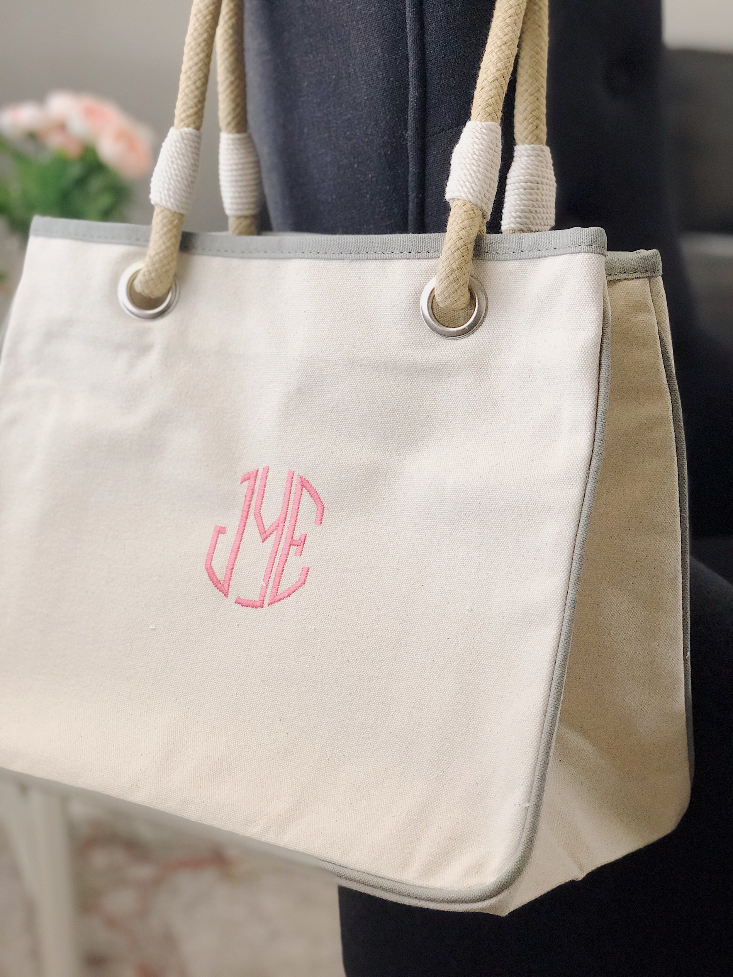 Canvas (Monogrammed) Tote Bag