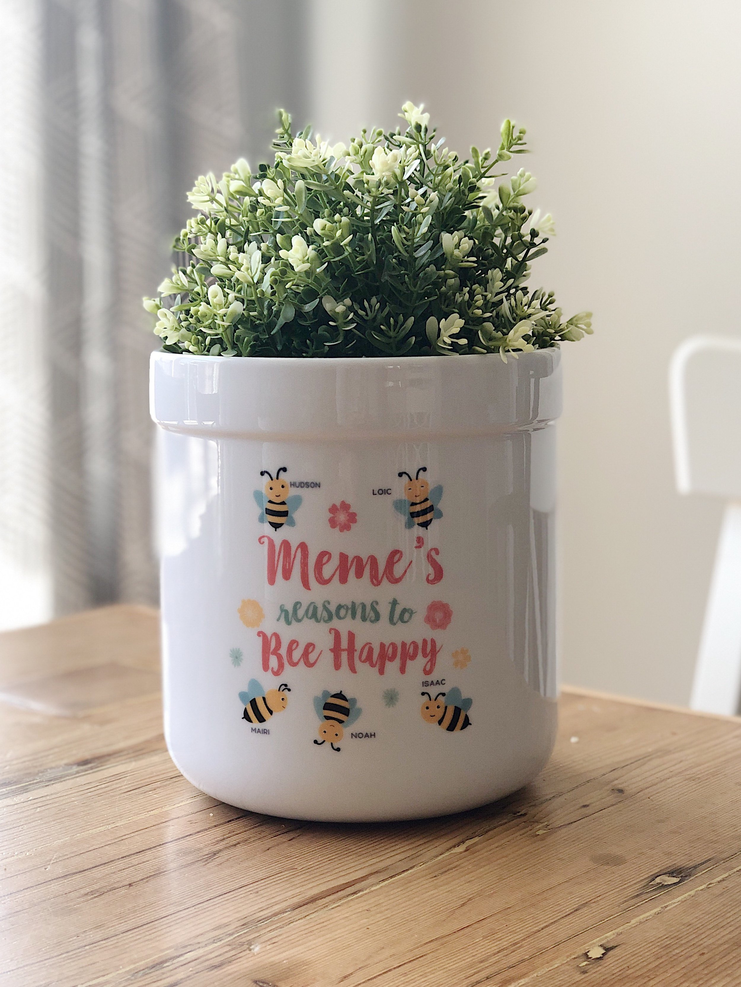 Bee Happy Outdoor Flower Pot