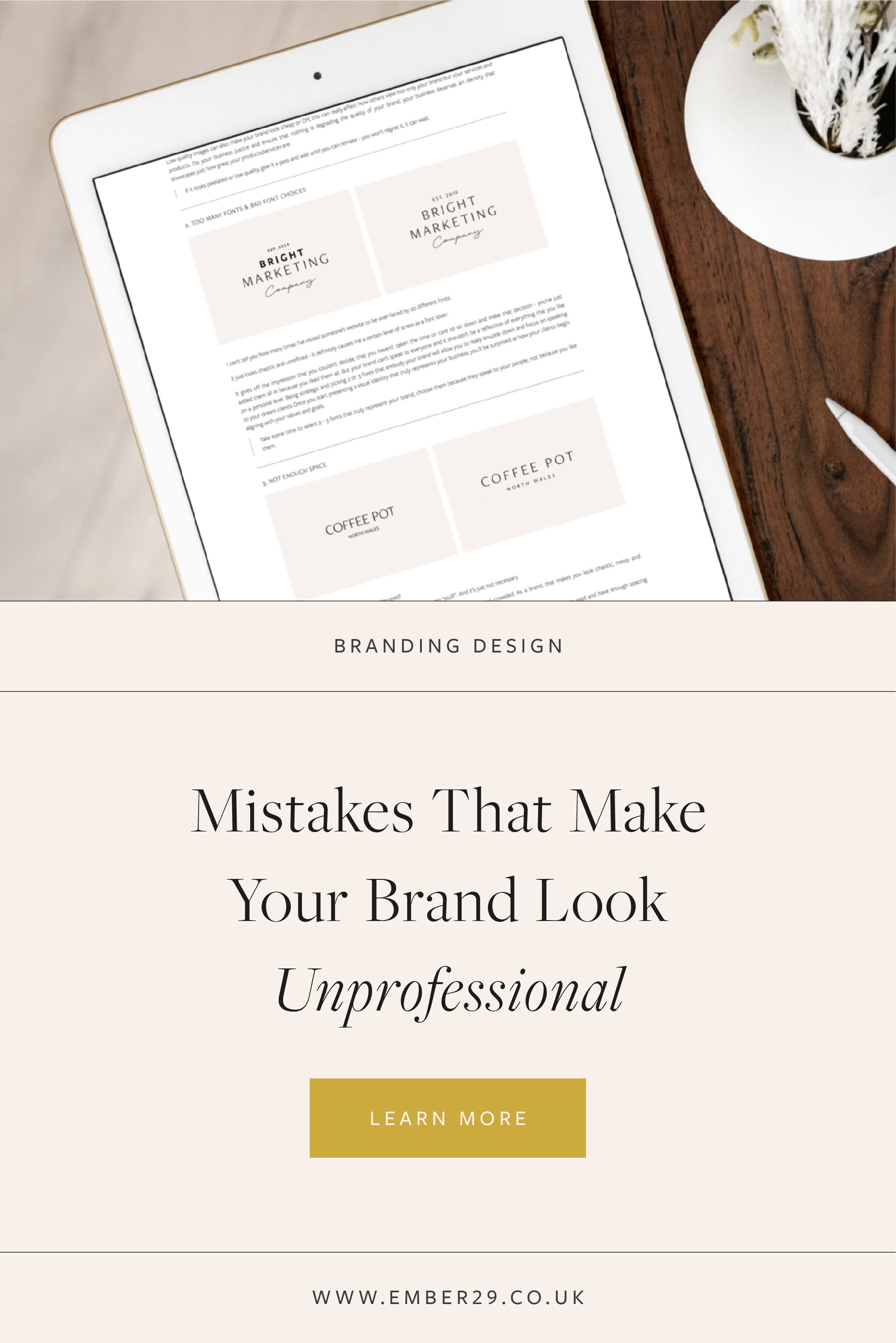 Mistakes That Make Your Brand Look Unprofessional