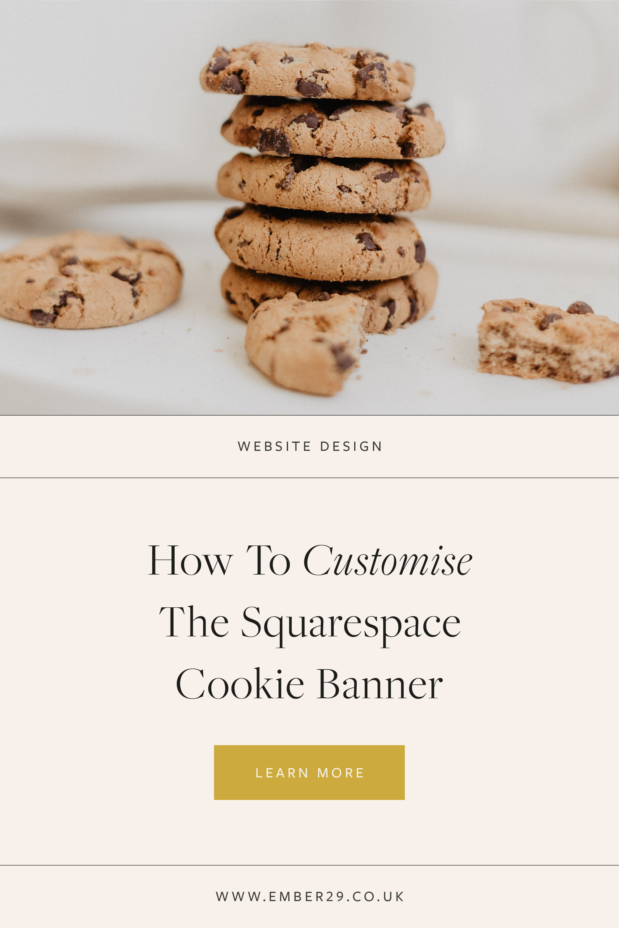 How To Customise The Squarespace Cookie Banner
