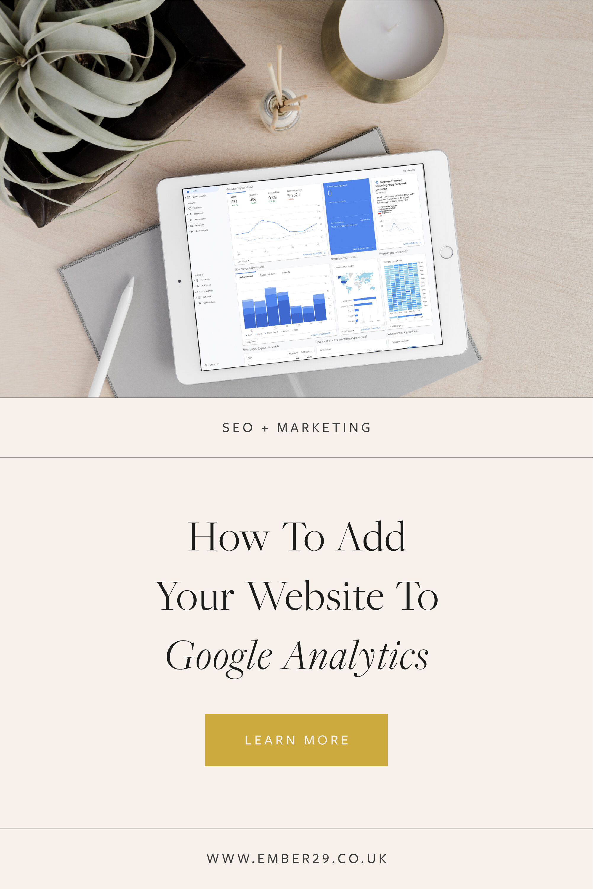 Adding your Squarespace website to Google Analytics